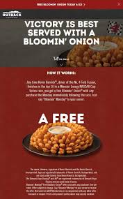 Pinned June 11th: #FREE Bloomin Onion Today At #OutbackSteakhouse ... Can I Eat Low Sodium At Outback Steakhouse Hacking Salt Gift Card Eertainment Ding Gifts Food Steakhouse Coupon Bloomin Ion Deals Gone Wild Kitchener C3 Coupons 1020 Off Coupons Free Appetizer Today Parts Com Code August 2018 1for1 Lunch Specials Coupon From Ellicott City Md On Mycustomcoupon Exceptional For You On The 8th Day Of