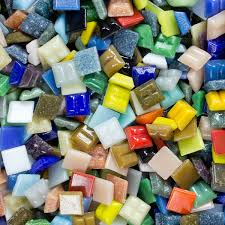 glass mosaic tiles 3 8 inch economy bulk 5 lbs