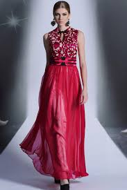 fashion trends beautiful embroidered formal dress mixed with
