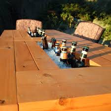 Ana White | Patio Table With Built-in Beer/Wine Coolers - DIY Projects Patio Cooler Stand Project 2 Patios Cabin And Lakes 11 Best Beverage Coolers For Summer 2017 Reviews Of Large Kruses Workshop Party Table With Built In Beerwine Ice How To Build A Wood Deck Fox Hollow Cottage Diy Your Backyard Wheelbarrow Foil Smoker Outdoor Decorations Beer Wooden Plans Home Decoration 25 Unique Cooler Ideas On Pinterest Diy Chest Man Cave Backyard Our Preppy Lounge Area Thoughtful Place