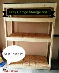 build wood garage storage shelves for under 50 lifehacker