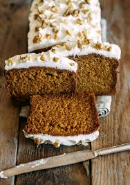 Starbucks Pumpkin Loaf Ingredients by Copycat Starbucks Gingerbread Loaf With Cream Cheese Frosting