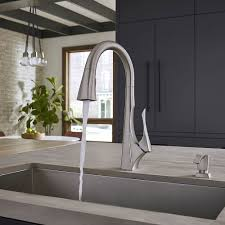 Pfister Pasadena Kitchen Faucet by Spot Defense Stainless Steel Venturi 1 Handle Pull Down Kitchen