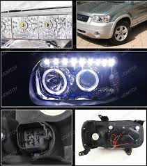 05 07 ford escape chrome halo projector led headlights
