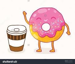 Cute Donut Clipart Face