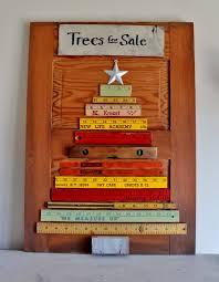 Ruler Christmas Tree At Adirondack Girl Heart