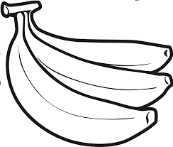 banana clipart black and white