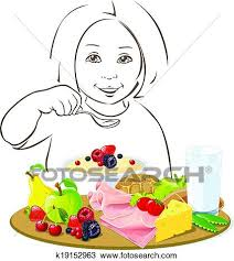 Clipart healthy eating child Fotosearch Search Clip Art Illustration Murals Drawings