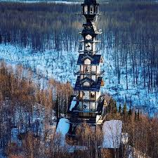 104 House Tower This Alaskan Log Cabin Looks Like A Dr Suess Movie Set