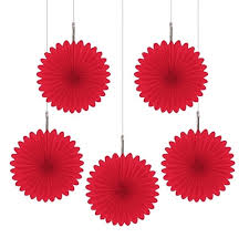 Fireman Sam Red Tissue Paper Fan Birthday Party Favor Ideas Hanging Decoration Ceterpieces For Tea