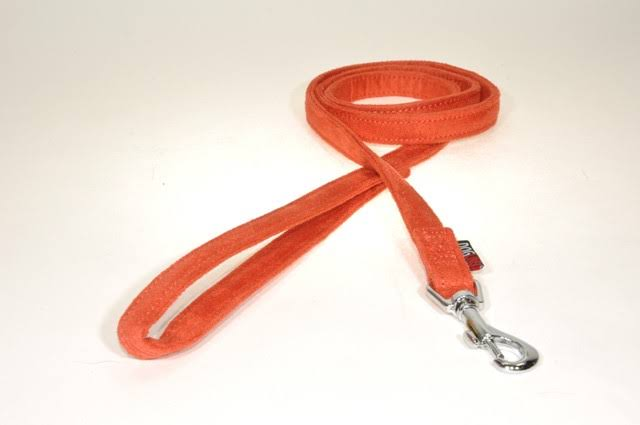 "Dogline Comfort Microfiber Dog Leash - Orange, 5/8"" x 6'"