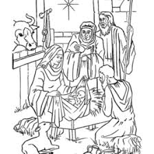 Christmas Story Coloring Pages Nativity