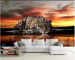 beibehang papel de parede 3d foto tiger leopard silk abdeckung elefanten wohnzimmer sofa schlafzimmer tv hintergrund wandbild wand papier