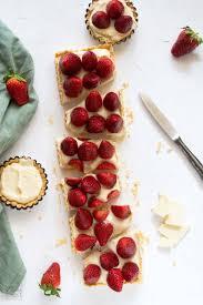 erdbeertarte mit weißer schokolade