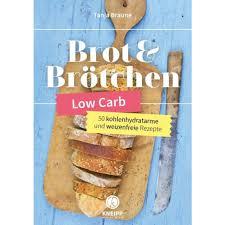 buch low carb brot brötchen tanja braune