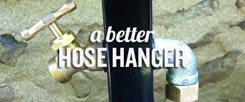 installing an outdoor pole mounted hose hanger with faucet