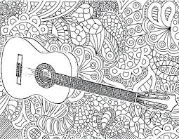 Free Preschool Music Coloring Pages Adult Guitar Instruments