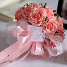 Cheap Wedding Decorations Online by Best Quality Artificial Wedding Bouquet Bridal Holding Flowers
