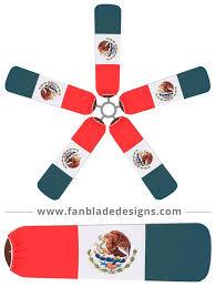 fan blade designs mexico flag fan blade designs