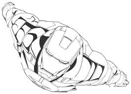 Flying Iron Man Free Coloring Page O Avengers Kids