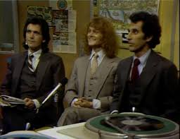 Michael Des Barres Peter Elbling And Jim Henderson In WKRP Cincinnati 1978