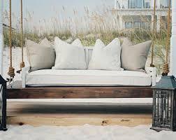 Porch swing cushion