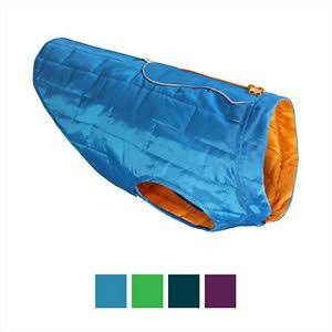 Kurgo Loft Dog Jacket - Extra Large, Blue, Orange