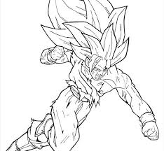 Goku Coloring Page Pages Printable