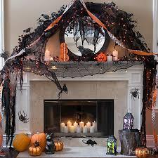 Halloween Fireplace Mantel Scarf by Modern Halloween Mantel Idea Orange And Black Modern Halloween