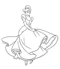 Princess Cinderella Color Pages Printable