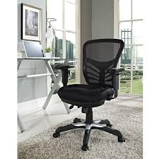 Tall Office Chairs Australia by Amazon Com Modway Articulate Black Mesh Office Chair Kitchen