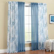 Brylane Home Curtain Panels by Printed Leaf Sheer Voile Rod Pocket Curtain Curtains U0026 Drapes