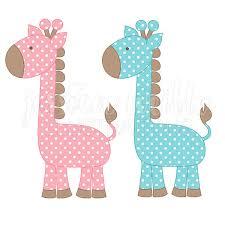 Polka Dot Giraffe Cute Digital Clipart Cute Giraffe Clip art