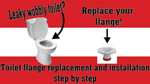 stuck toilet flange replacement and toilet installation how to