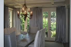 Dining Room Curtain With Window Treatment Ideas In