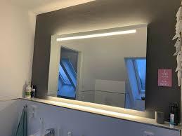 badspiegel 1 20 m x 80 cm oben beleuchtet unten hinterleuchtet