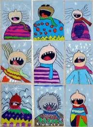 Catching Snowflakes Winter Art Projects Done By Some Grade 3 Students