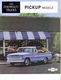1965 Chevrolet Trucks-pickup Models Brochure - The 1947 - Present ...