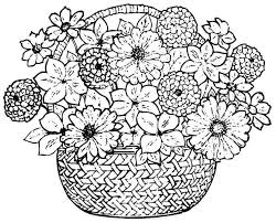 Printable Coloring Page Flower Bouquet