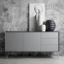 sideboard jerrell i matt grau home24 wohnzimmer