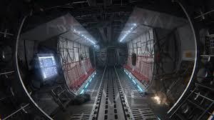 100 Aircraft Carrier Interior Interior 3D Model