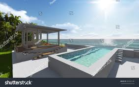 100 Photos Of Pool Houses By Ocean 3d Render Nature ParksOutdoor Stock