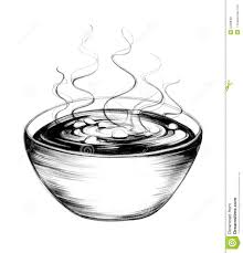 Hand Drawn Soup Bowl stock illustration Illustration of bowl