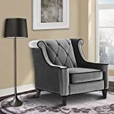 Armen Living Barrister Sofa by Amazon Com Armen Living Lc8442gray Barrister Loveseat In Grey