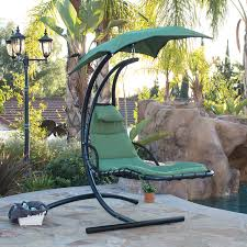 Hanging Chaise Lounge Chair Hammock Swing Canopy Glider Outdoor