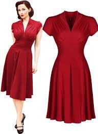 i u003c3 this women u0027s vintage style retro 1940s shirtwaist flared