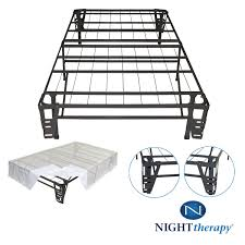 Bed Frame With Headboard And Footboard Brackets by Amazon Com Night Therapy Platform Metal Bed Frame Foundation Set