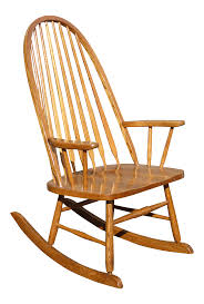 Vintage Royola Pacific Mid-Century French Country Oak Windsor Rocking Chair