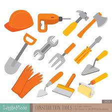 Construction Tools Digital Clipart