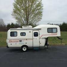 1997 Scamp 19 Fifth Wheel Travel Trailer Camper Bathroom Awning A C Pulls Easy
